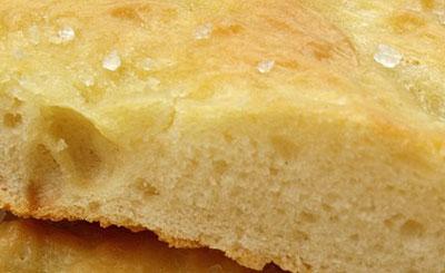italiensk brød foccacia