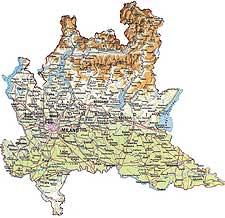Klik for stort kort over lombardiet