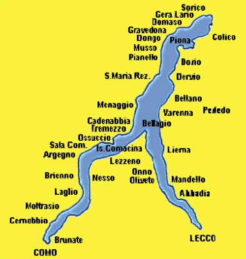 Retur til Kort over Italien