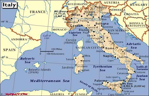 Kort Over Italien Italydk Et Webmagasin Om Italien