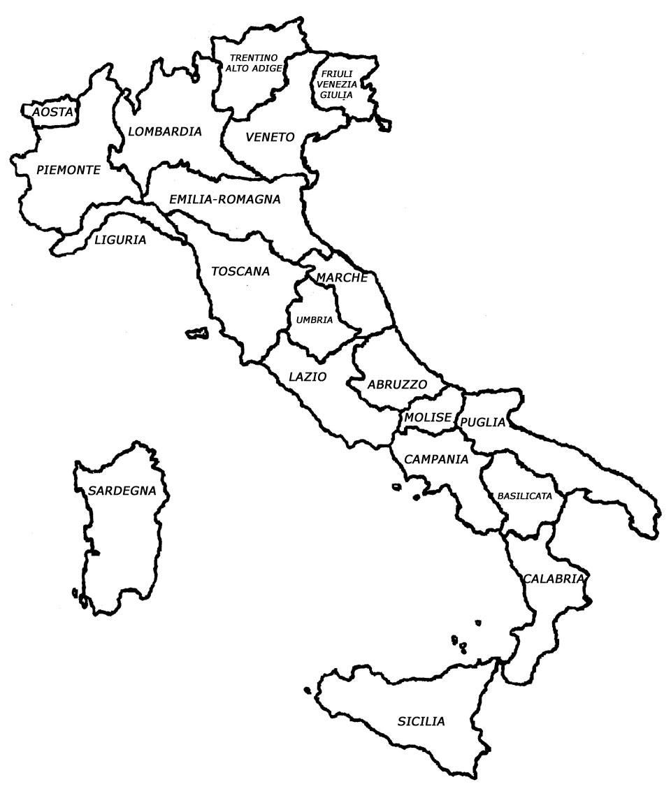 Landkort Kort Over Italien Italydk Et Webmagasin Om Italien