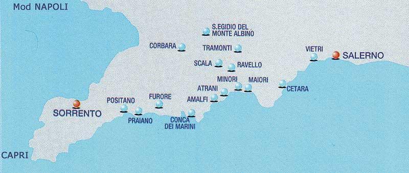 Amalfi Kysten Www Italy Dk Et Webmagasin Om Italien