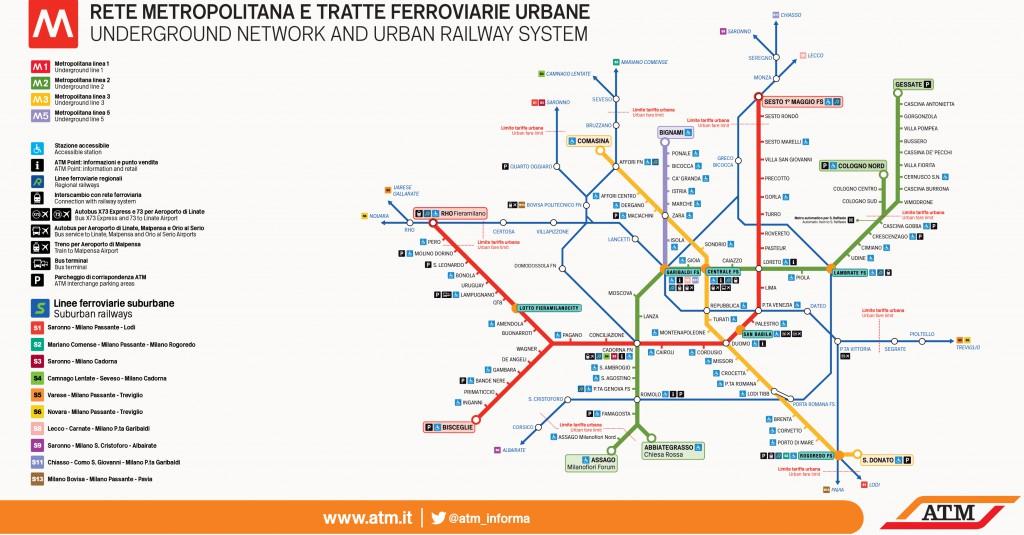 Milano Kort Over Metro Italy Dk Et Webmagasin Om Italien